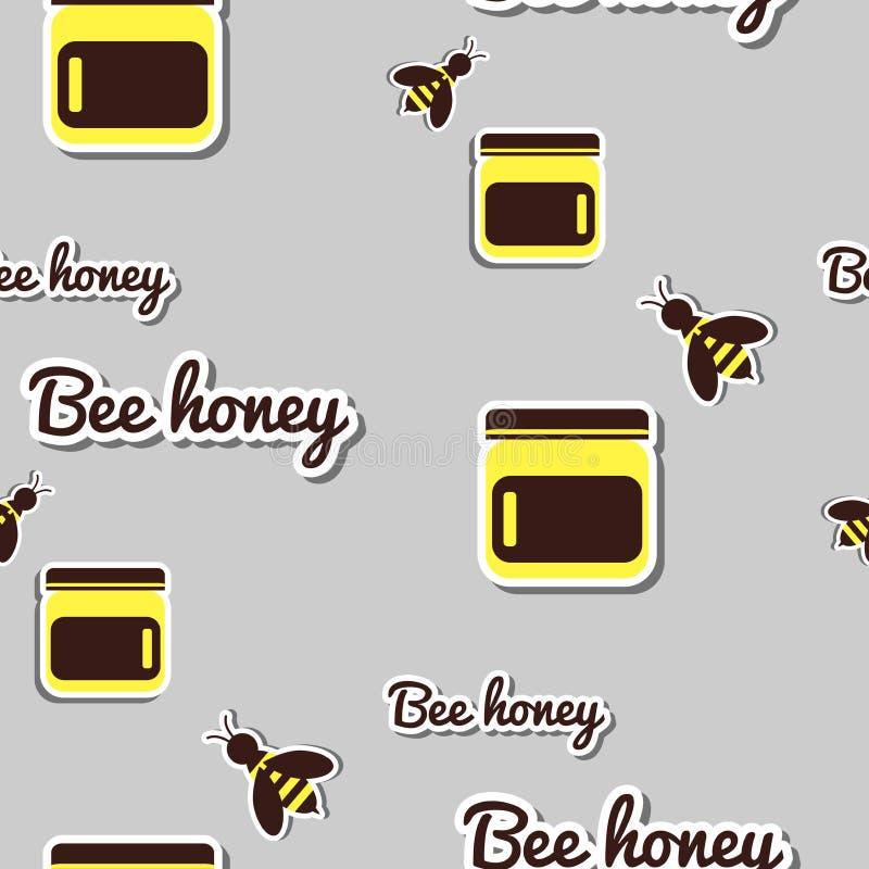银行用蜂蜜和蜂 皇族释放例证