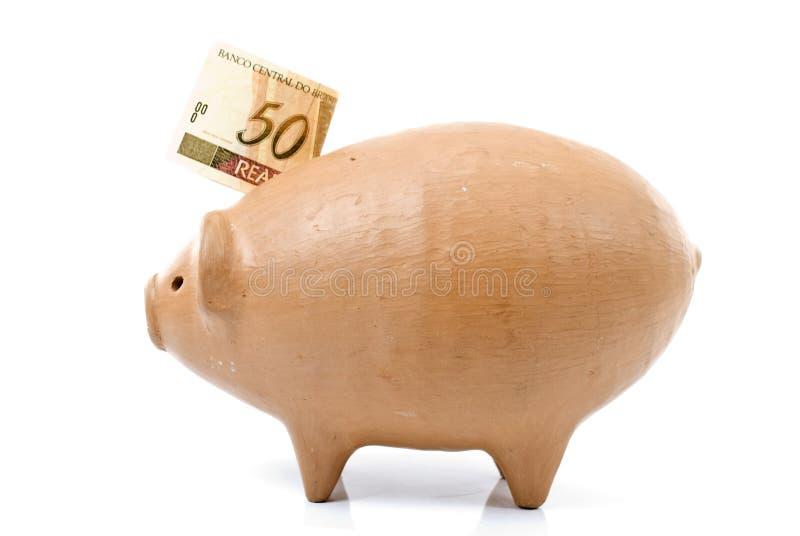 银行硬币猪 免版税库存图片
