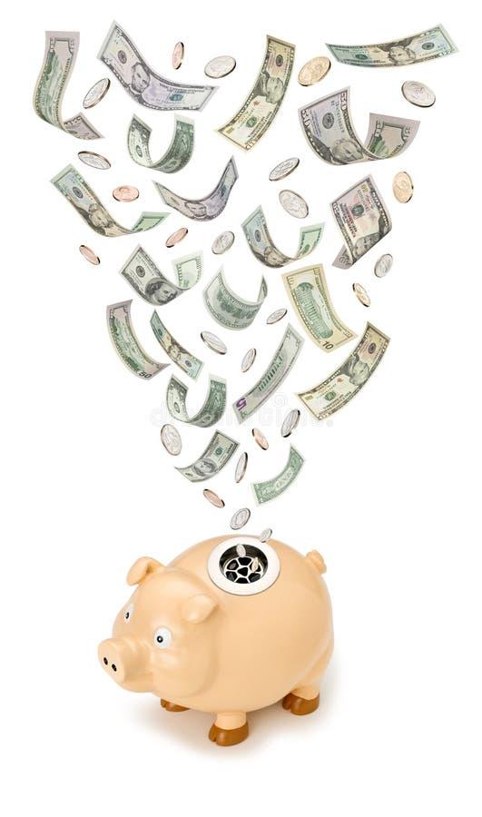 银行票据贪心浪费 库存例证