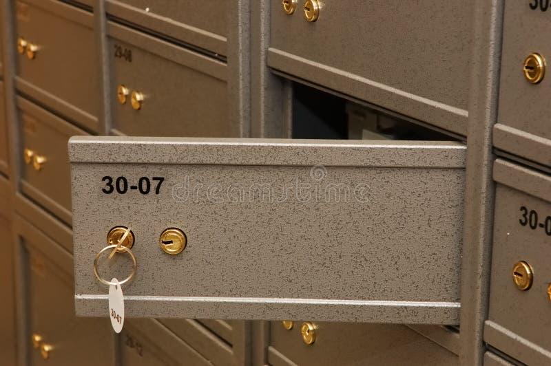 银行空间安全 免版税库存照片