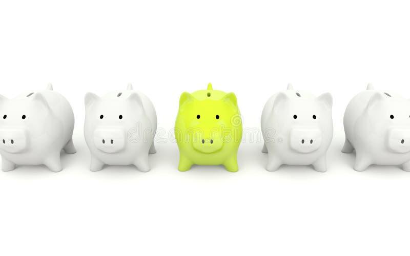 银行绿色贪心 向量例证