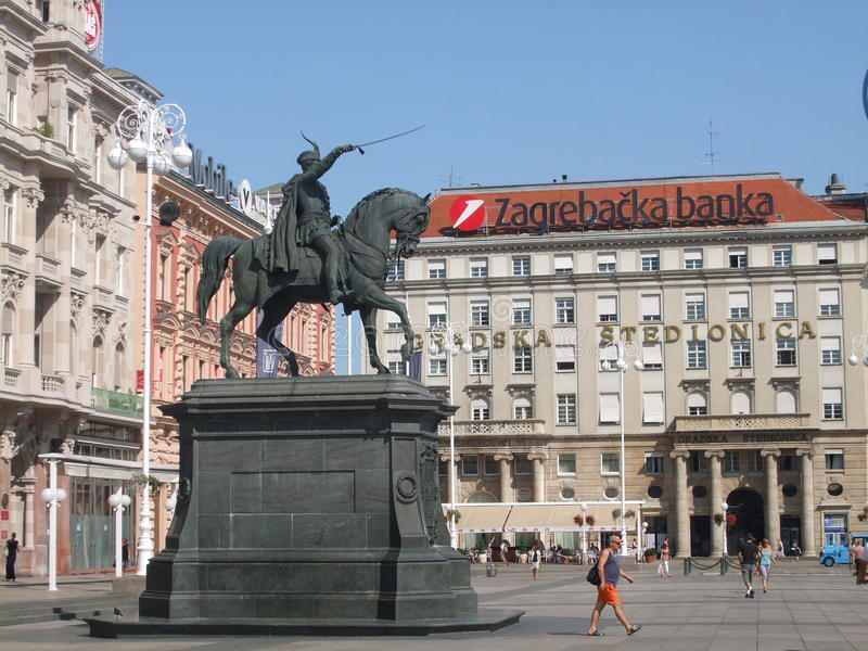 银行萨格勒布 库存照片