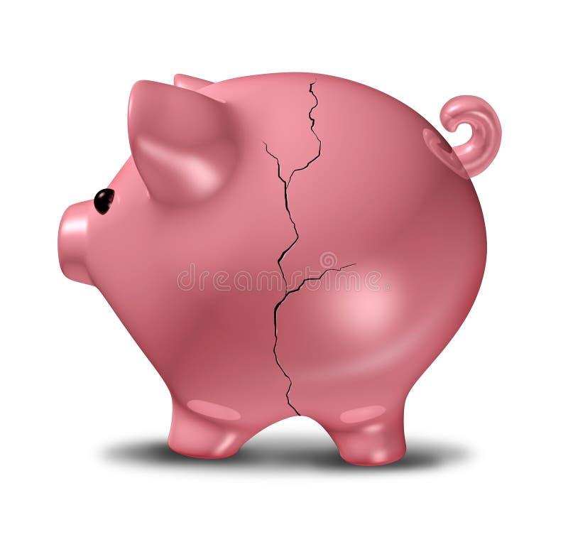 银行被中断的贪心 向量例证