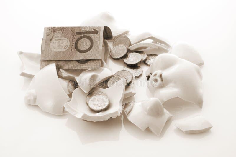 银行被中断的贪心 免版税库存照片