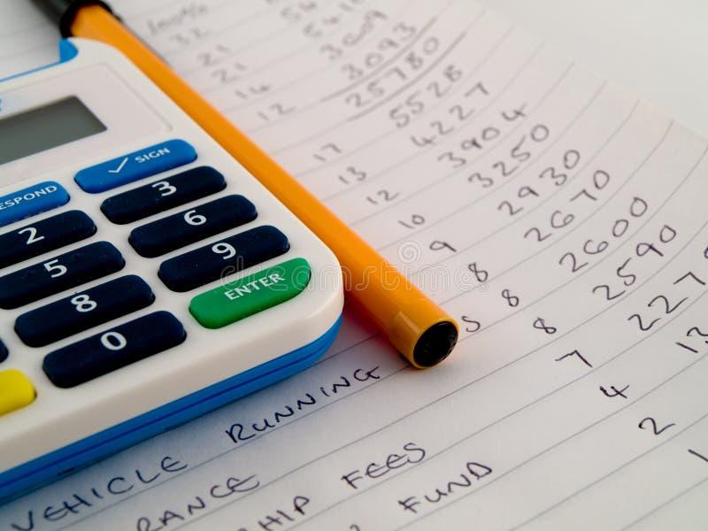 银行计算器编号针安全 免版税库存照片