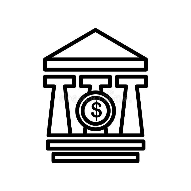 银行象在白色背景和标志隔绝的传染媒介标志 向量例证