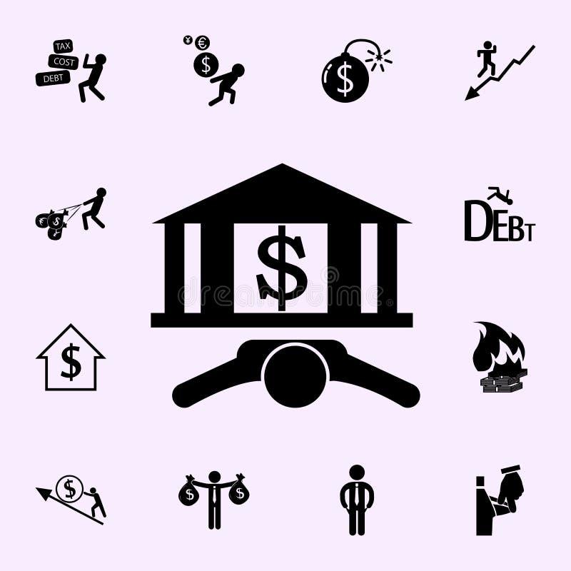 银行象 网和机动性的赢利象全集 库存例证