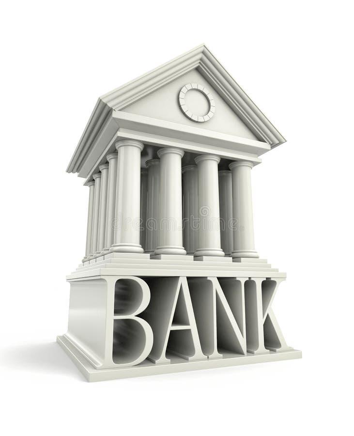 银行象 银行3d大厦象 皇族释放例证