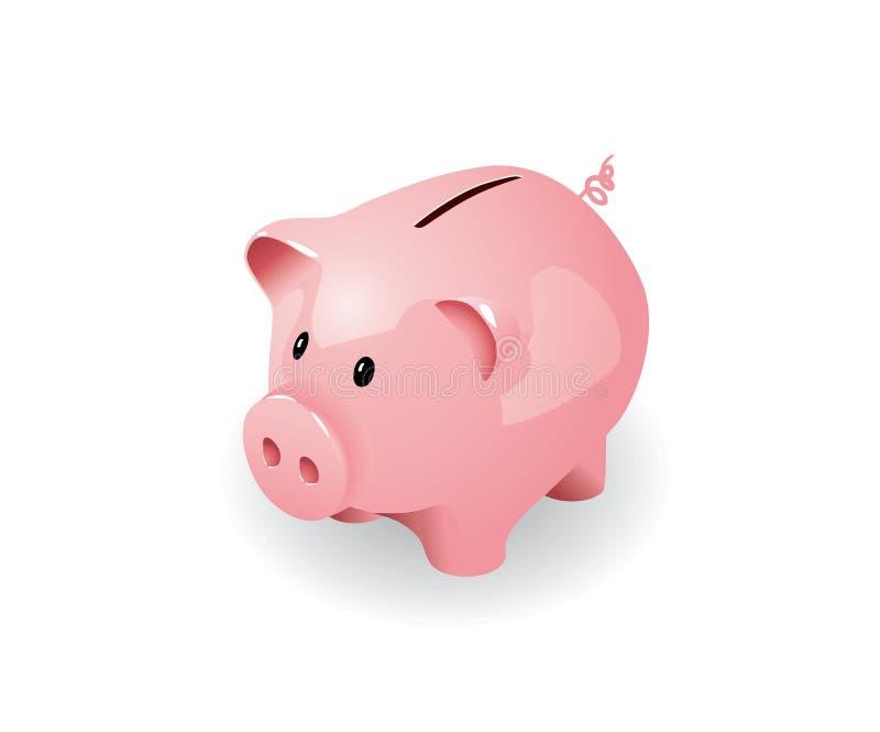 银行贪心粉红色 向量例证