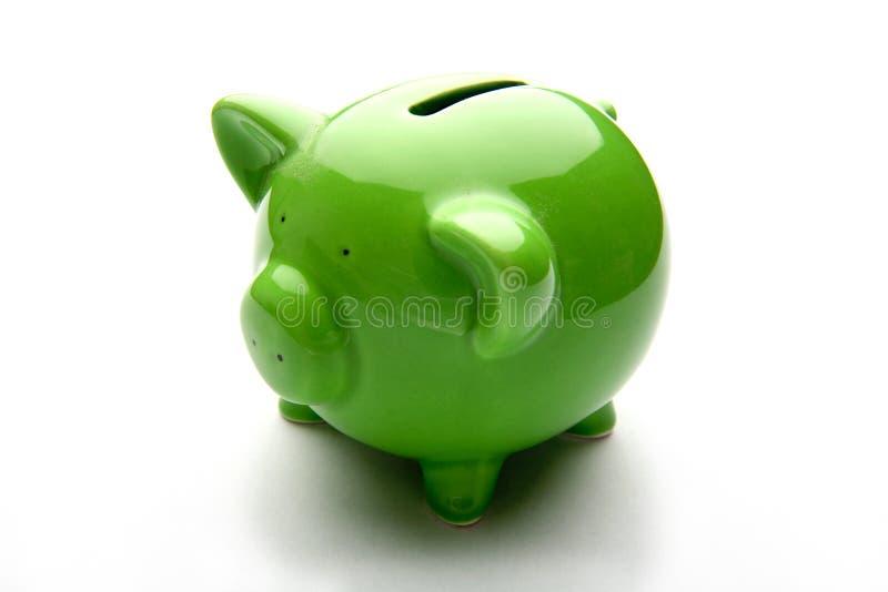 银行贪心配件箱的货币 库存图片