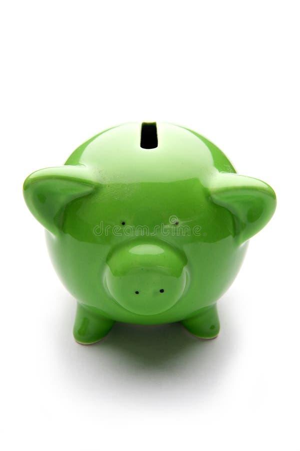 银行贪心配件箱的货币 免版税图库摄影