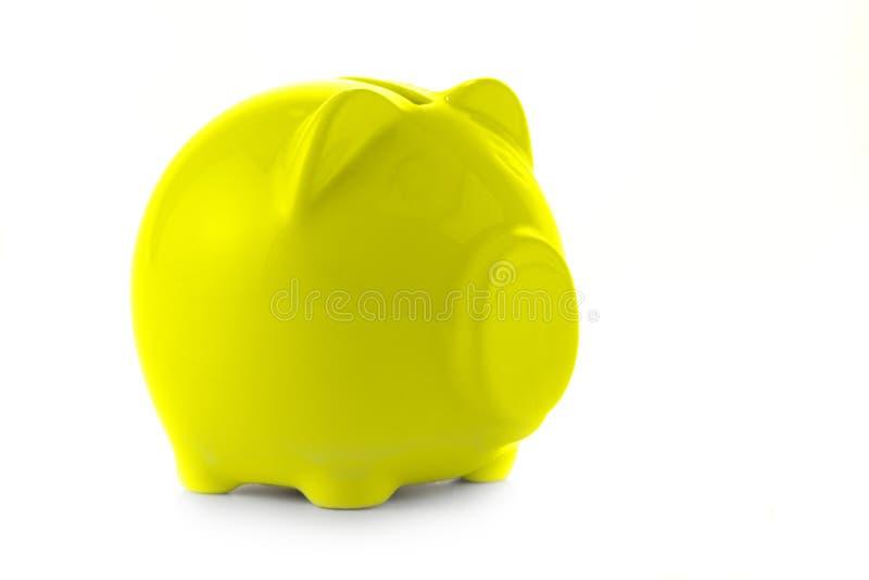 银行贪心黄色 免版税库存照片