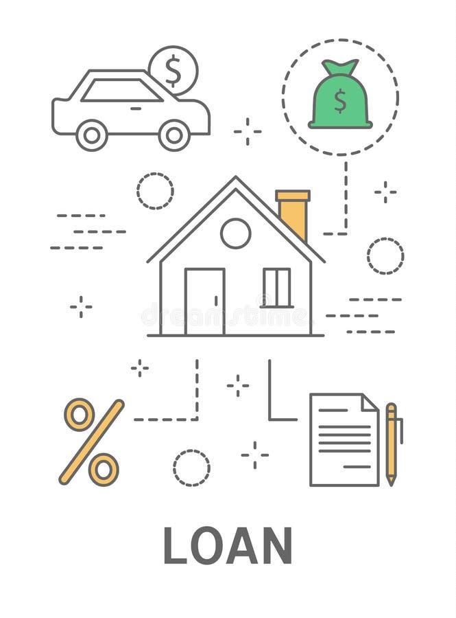 银行贷款例证 向量例证