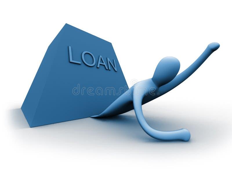 银行贷款 皇族释放例证