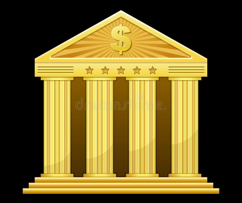 银行金子 向量例证