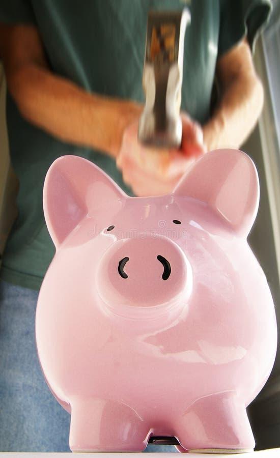 银行锤子抽杀 免版税库存照片