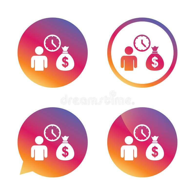 银行贷款标志象 得到金钱快速的标志 库存例证