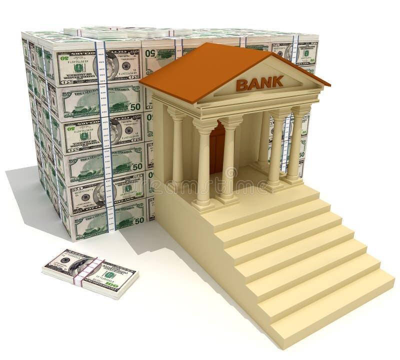银行 库存例证