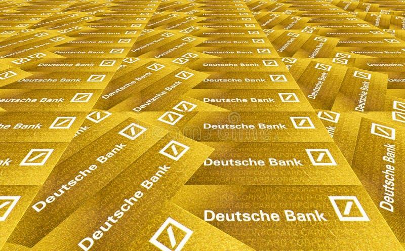银行deutsche 库存例证