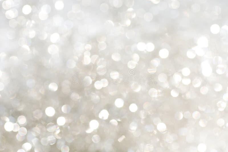 银闪耀白色 库存图片