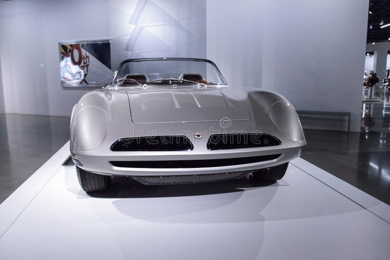银1966年Bizzarrini 5300 Spyder SI原型 库存照片