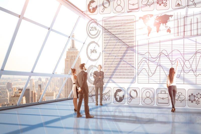 铸造在工厂白色的概念财务增长 向量例证