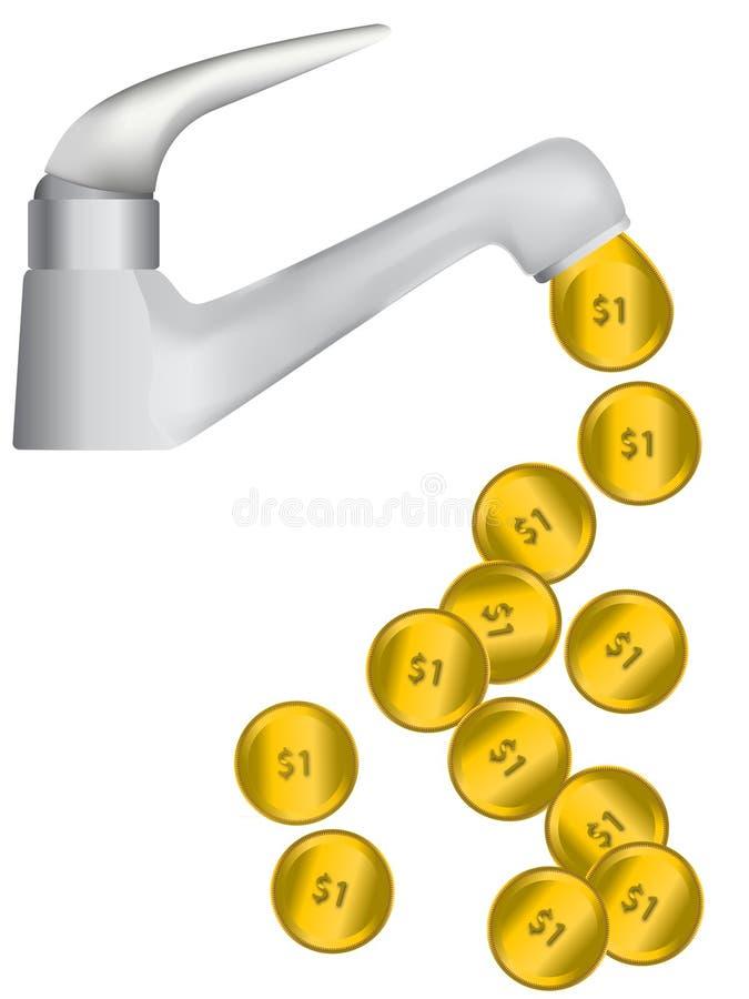 铸造流的金子 免版税图库摄影