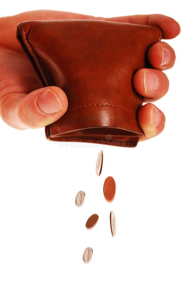 铸造滴下的钱包 库存照片