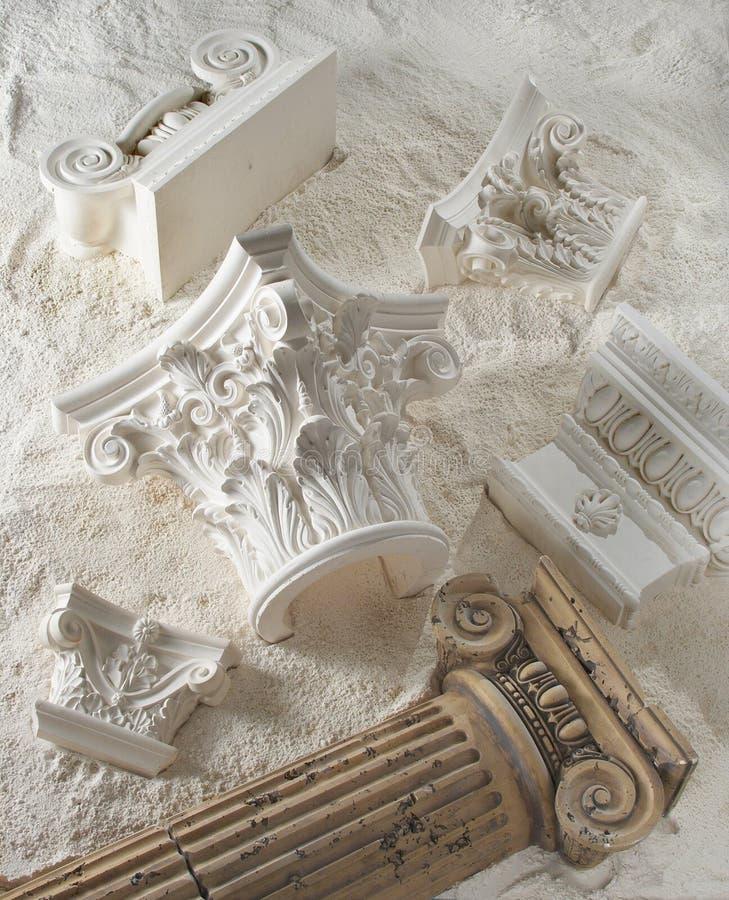 铸造的灰泥 库存图片