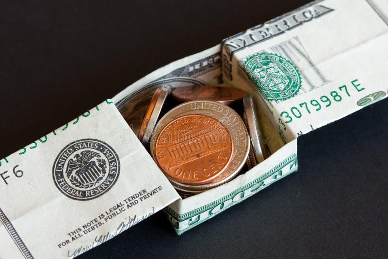 铸造美元我们 免版税图库摄影