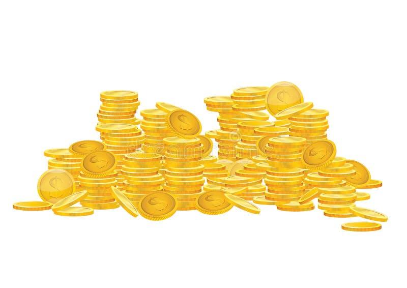 铸造美元欧元金子 库存例证