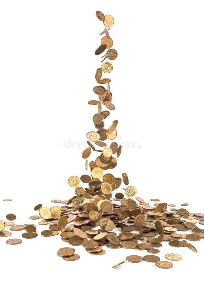 铸造落的金子 库存图片
