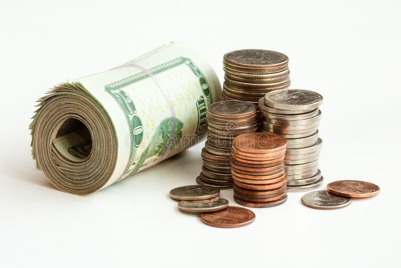 铸造货币附注堆 库存照片