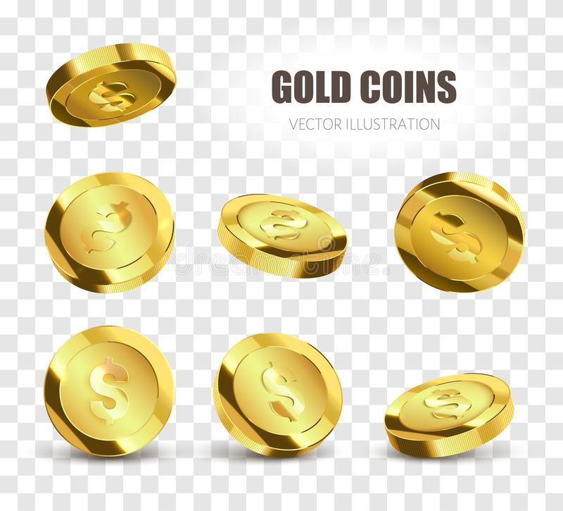 铸造金黄例证可实现的向量 也corel凹道例证向量 球尺寸三 向量例证