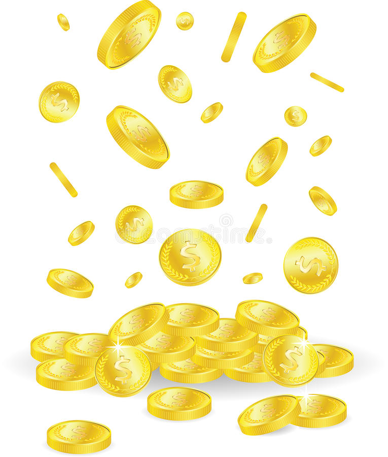 铸造金黄 库存例证
