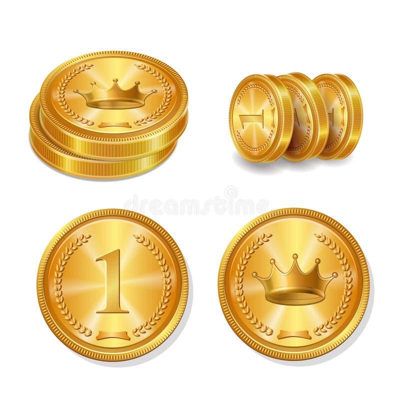 铸造金黄集向量 被隔绝的传染媒介 皇族释放例证