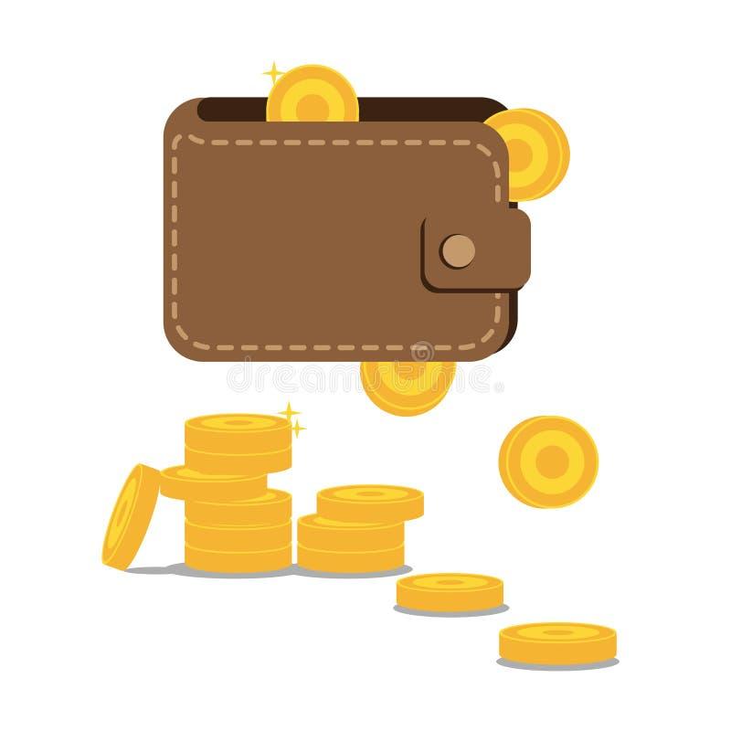 铸造钱包 库存照片