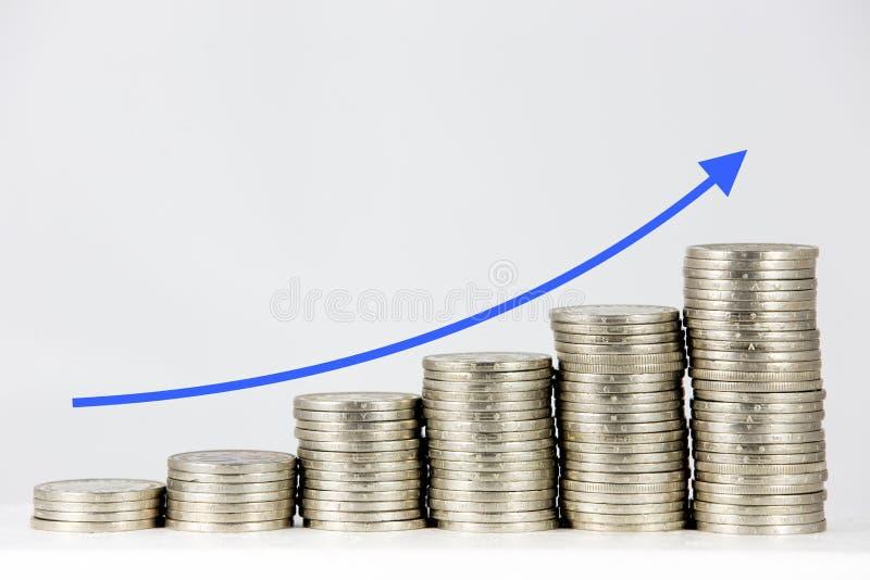 铸造财务图形向量 免版税图库摄影