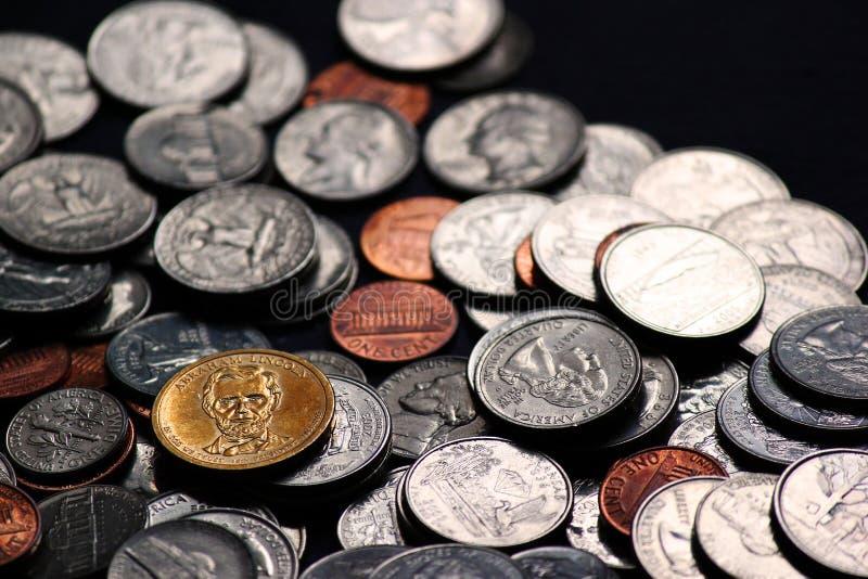 铸造货币 库存图片