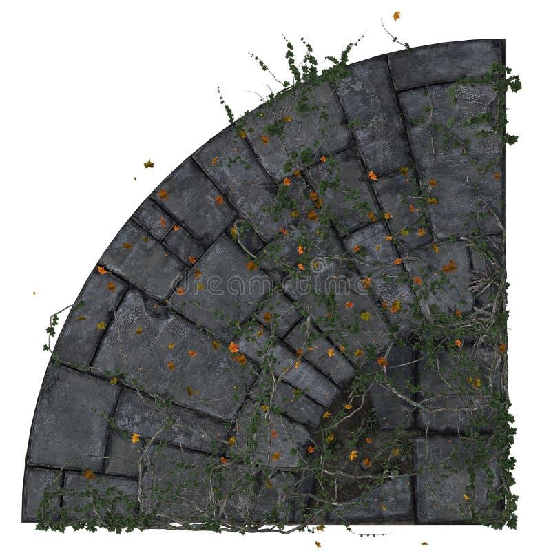 铺瓦片的圆角落 免版税库存照片