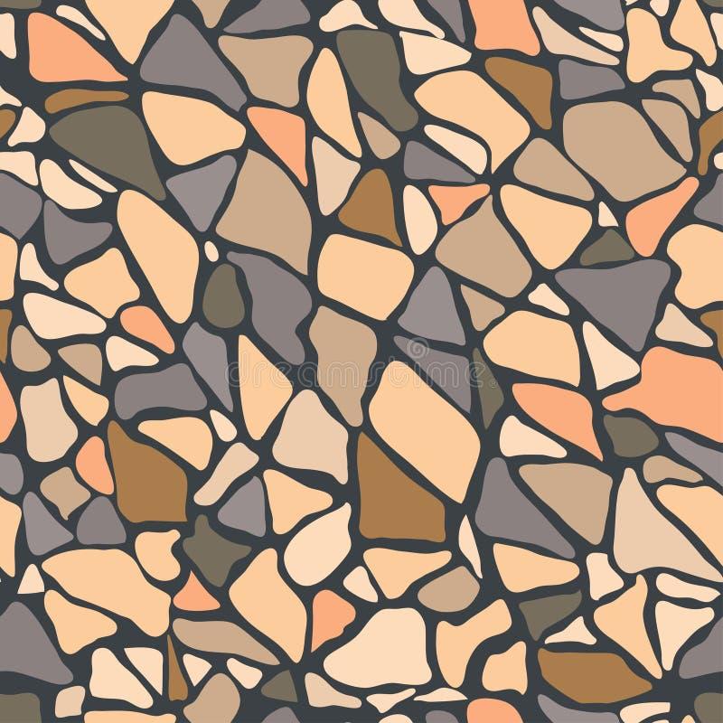 铺砖地覆盖物路面平板砖墙石头 皇族释放例证