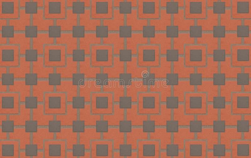 铺磁砖样式背景有水泥线和栅格的砖墙 皇族释放例证