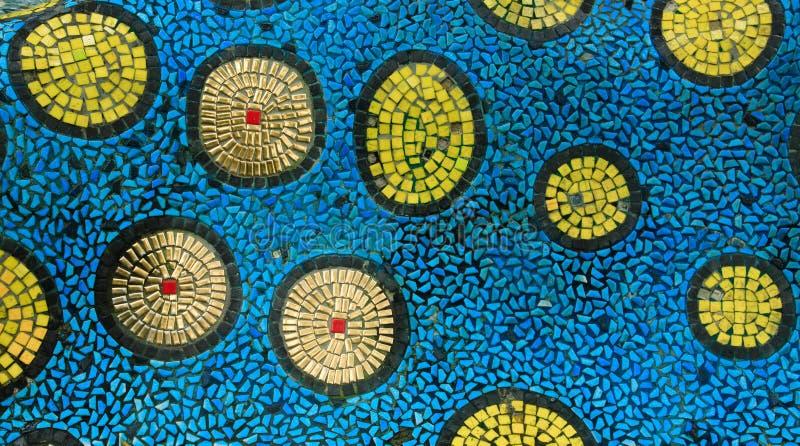 铺背景纹理的五颜六色的马赛克 库存图片