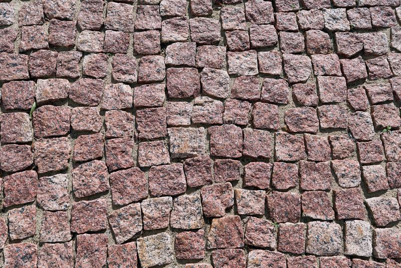 铺路石被计划棕色颜色方形的花岗岩石头  图库摄影