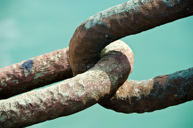 链子接近的连结 库存照片