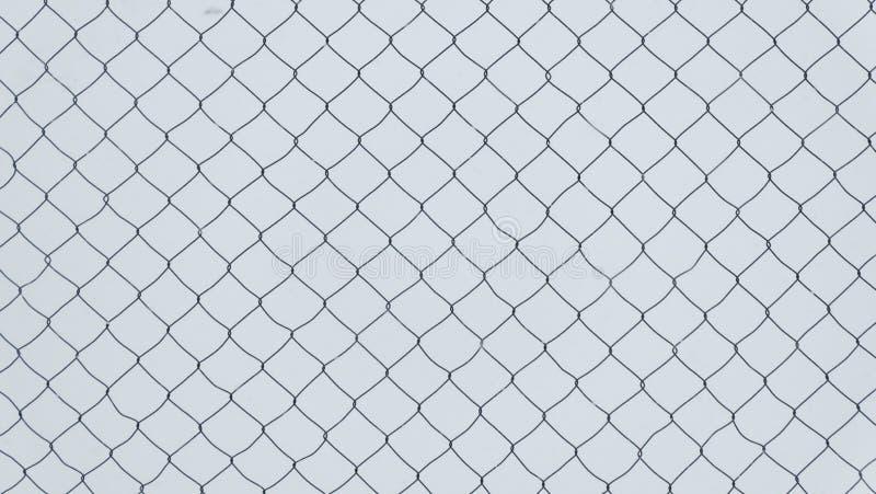 链子链接篱芭的纹理在白色背景的 免版税库存照片