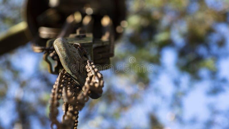 链子附加勾子 图库摄影