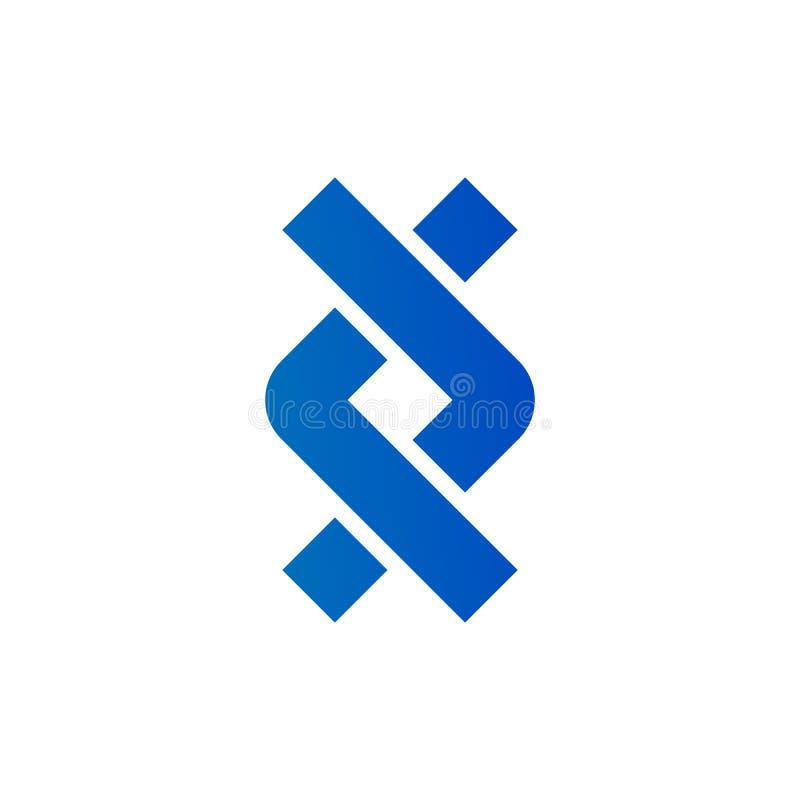 链政券踩公司无限概念元素合作象商标 : 向量例证