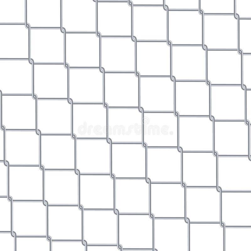 链节篱芭背景 工业样式墙纸 现实几何纹理 在白色隔绝的钢绳墙壁 传染媒介il 皇族释放例证
