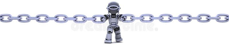 链藏品机器人 库存例证